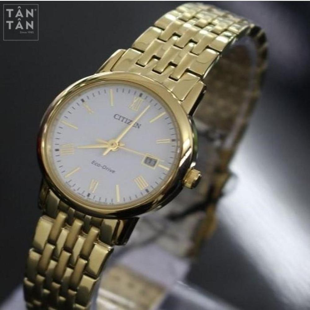 Đồng Hồ Citizen EW1582-54A Nữ Eco-Drive Kính Sapphire 27mm