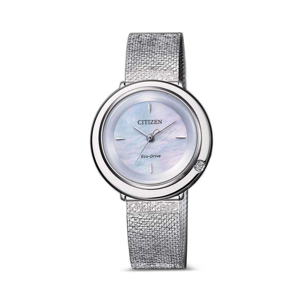 Đồng Hồ Citizen EM0640-82D Nữ Eco-Drive Đính Diamond Kính Sapphire 32mm