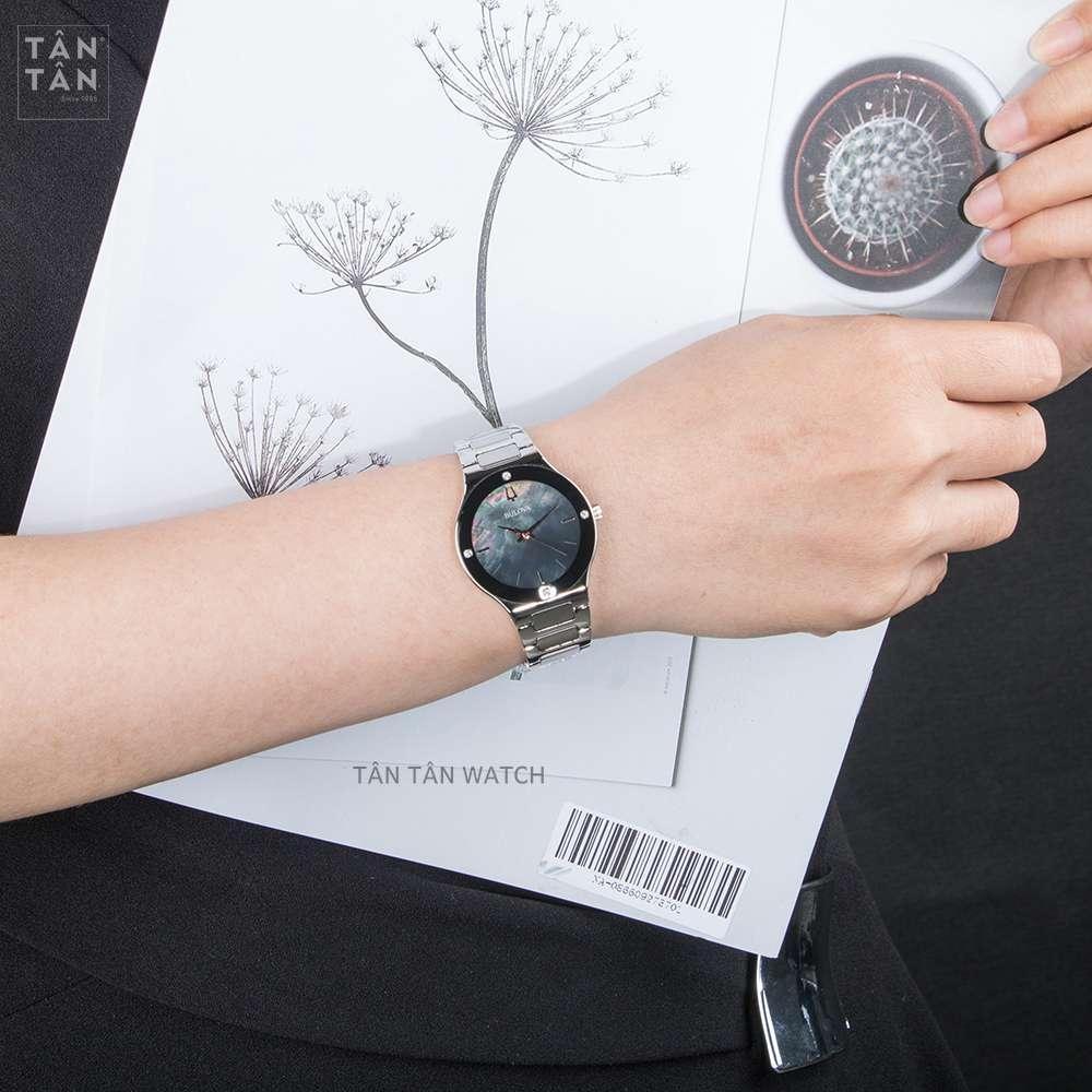 Đồng Hồ Bulova 96R231 Nữ Mặt Xà Cừ Đính Diamond 32mm