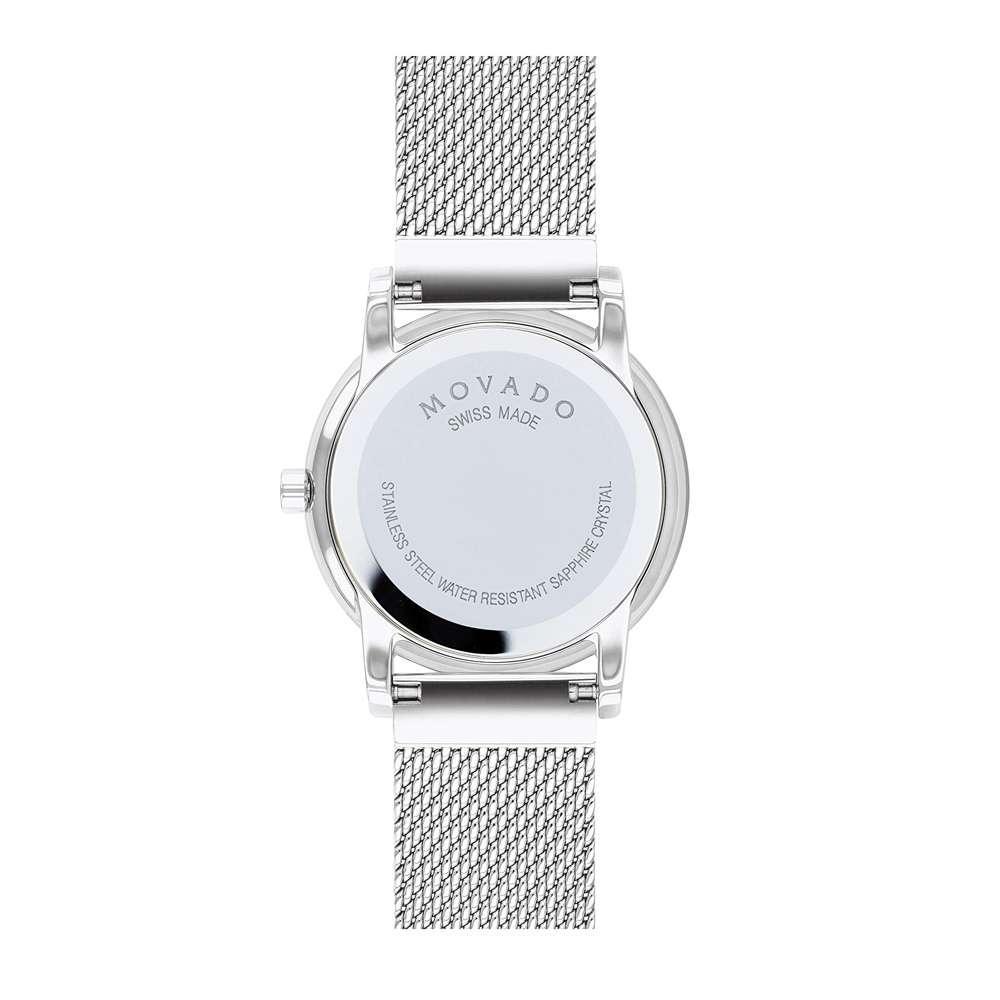 Đồng Hồ Movado 0607306 Nữ Diamond Xà Cừ Kính Sapphire 28mm