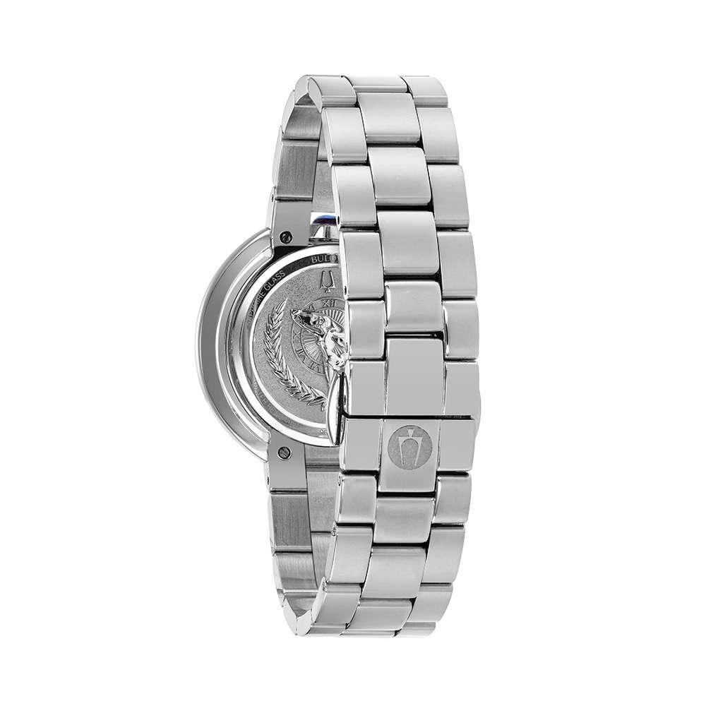 Đồng Hồ Bulova 96P213 Nữ Xà Cừ Diamond Kính Sapphire Lịch Thứ Ngày 35mm