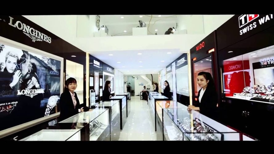 hệ thống cửa hàng đồng hồ Tân Tân