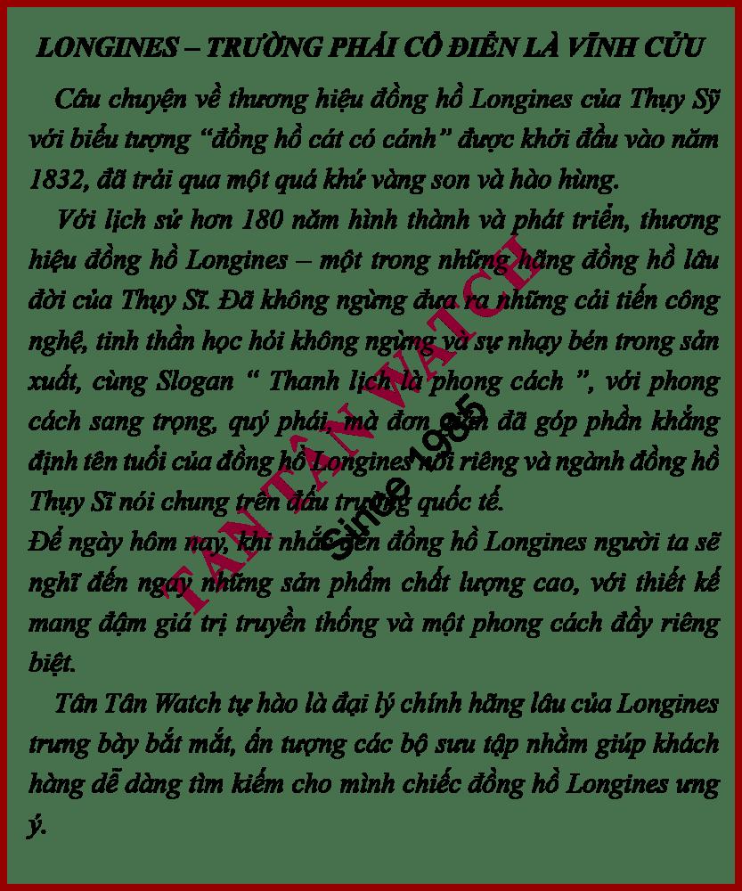 Đồng Hồ Longines L3.716.4.76.6 Nam Kính Sapphire 41mm 1