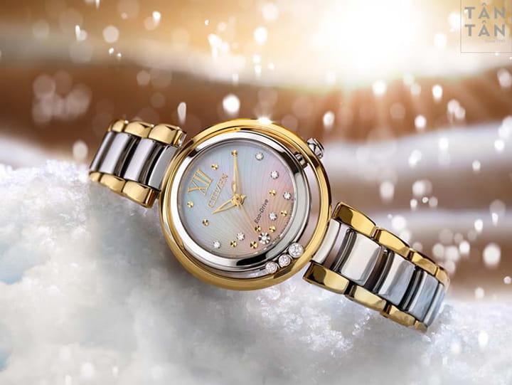Đồng Hồ Citizen L Sunrise Diamond - Thêm Vẻ Ngọc Ngà Cho Phụ Nữ Hiện Đại. 4