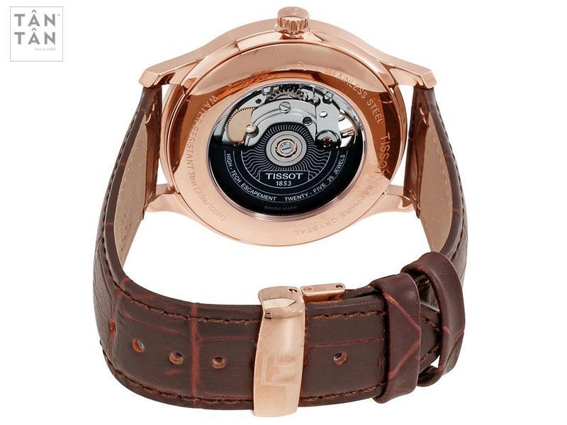 Bộ máy đồng hồ tissot Powermatic 80 với độ chính xác cao.