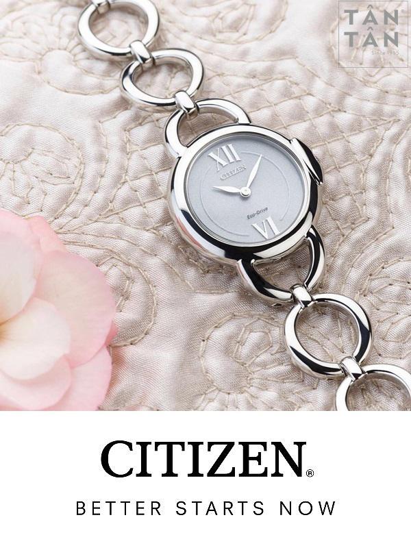 top 3 bộ sưu tập đồng hồ Citizen nữ Eco-drive dưới 7 triệu