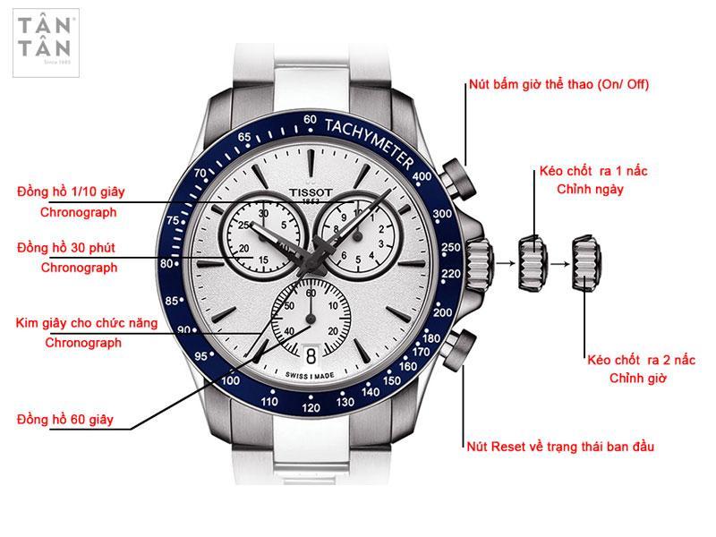 Cách chỉnh chức năng Chronograph trên đồng hồ Tissot