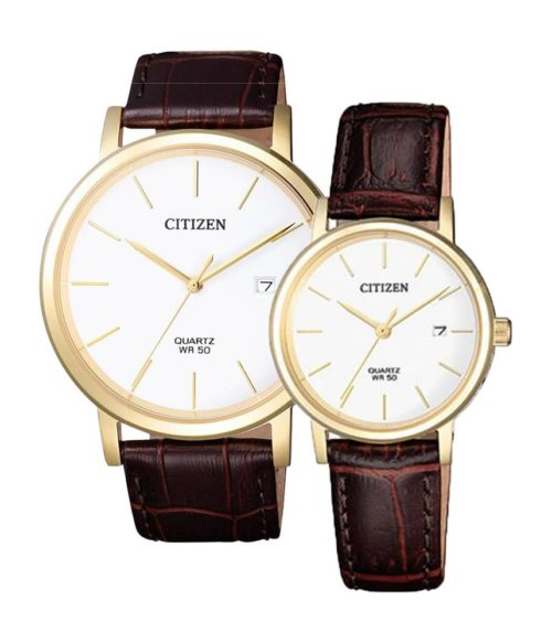 CITIZEN – Quartz(PIN) BI5072-01A(Nam) – EU6092-08A(Nữ)