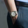 Đồng hồ Citizen AW1216-86A đeo trên tay