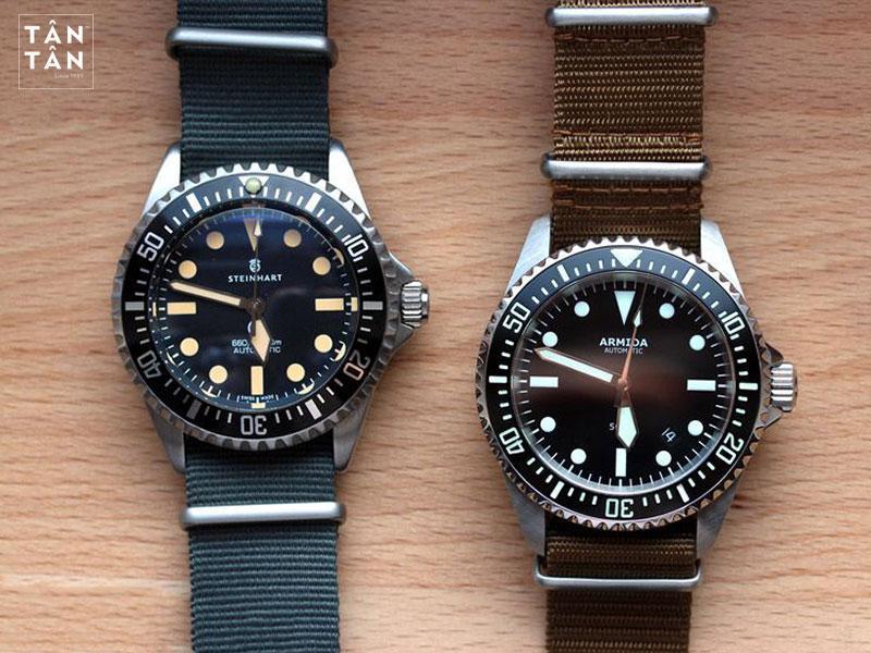 Steinhart Ocean Vintage Military và Armida A2, hai mẫu đồng hồ homage rất nổi tiếng tái hiện Rolex Submariner cổ