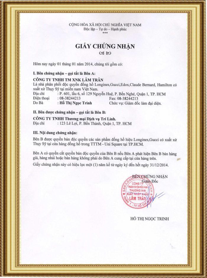 Thành Tích Và Danh Hiệu Cửa Hàng Đồng Hồ Tân Tân 5