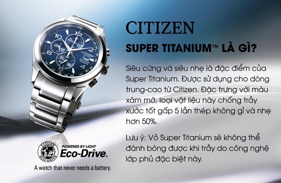 Đồng Hồ Citizen NJ0090-81A Nam Titanium Kính Sapphire Máy Cơ 42mm 1
